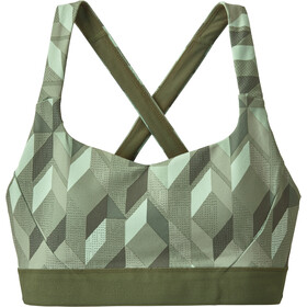 Patagonia Switchback Sujetador Deportivo Mujer, fast quilt/gypsum green